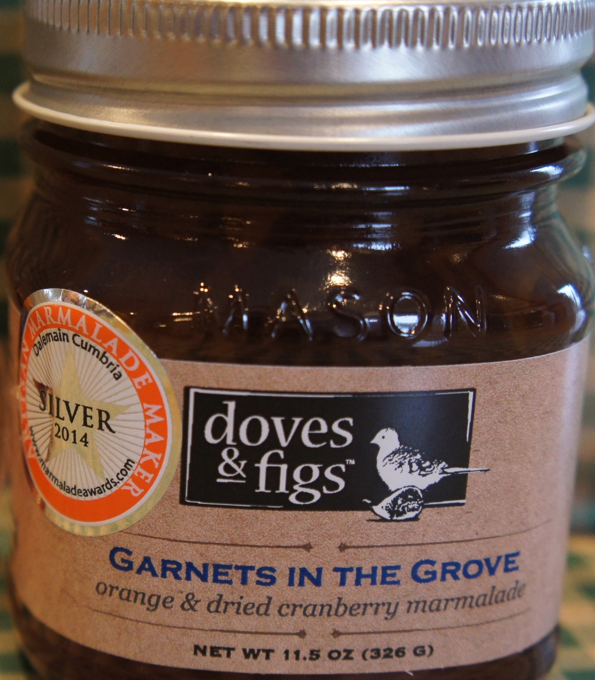 Garnets in the Grove marmalade - World Marmalade Awards 2014 medal winner